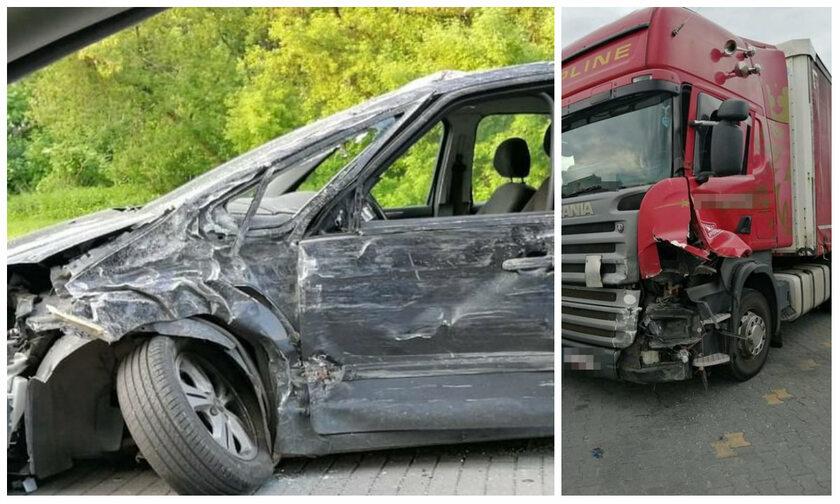 Auta rozbite po kolizji w Puławach