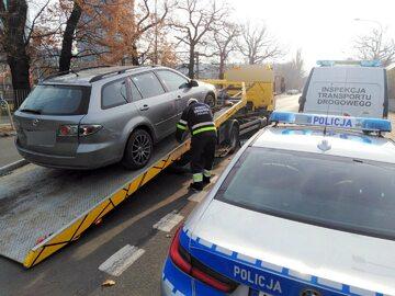 Auto nielegalnego przewoźnika trafiło na parking