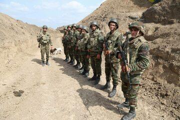 Azerscy żołnierze w regionie Terter