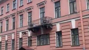 Balkon, na którym doszło do tragicznego wypadku