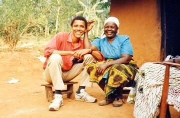 Barack Obama i Sarah Obama, zdj. z 1995 roku