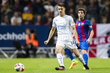 Bartosz Kapustka w barwach Leicester City