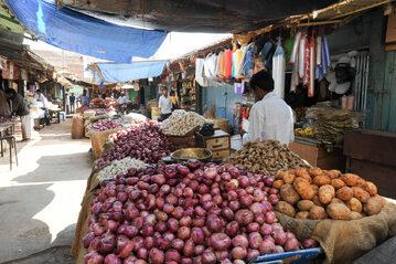 Bazar w Indiach, zdjęcie ilustracyjne