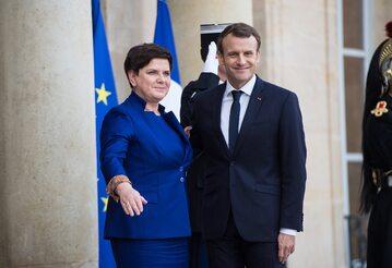 Beata Szydło, Emmanuel Macron