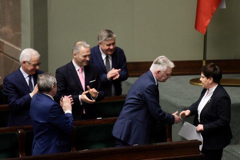 Beata Szydło i ministrowie rządu PiS