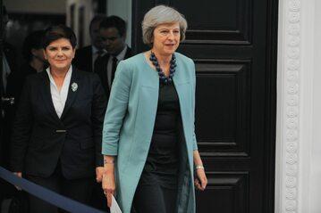 Beata Szydło i Theresa May podczas spotkania przy 10 Downing Street
