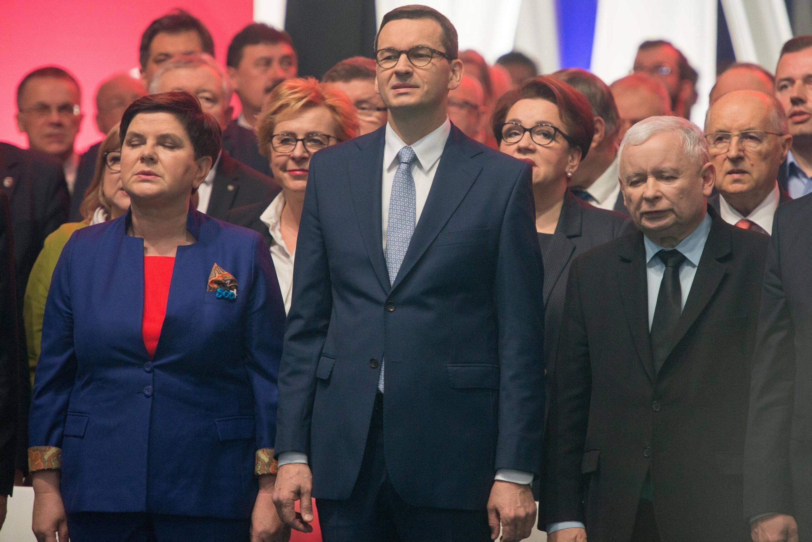 Beata Szydło, Mateusz Morawiecki, Jarosław Kaczyński
