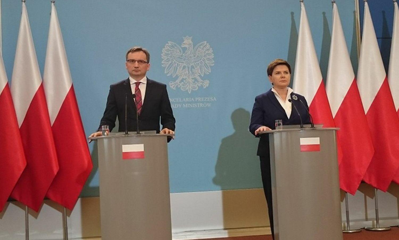 Beata Szydło, Zbigniew Ziobro