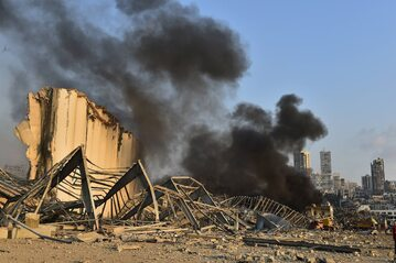 Bejrut. Skutki wybuchu w porcie