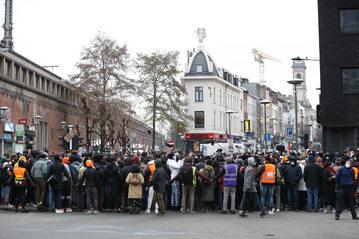 Belgia. Protest po śmierci Ibrahima B.