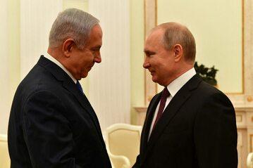 Benjamin Netanjahu i Władimir Putin