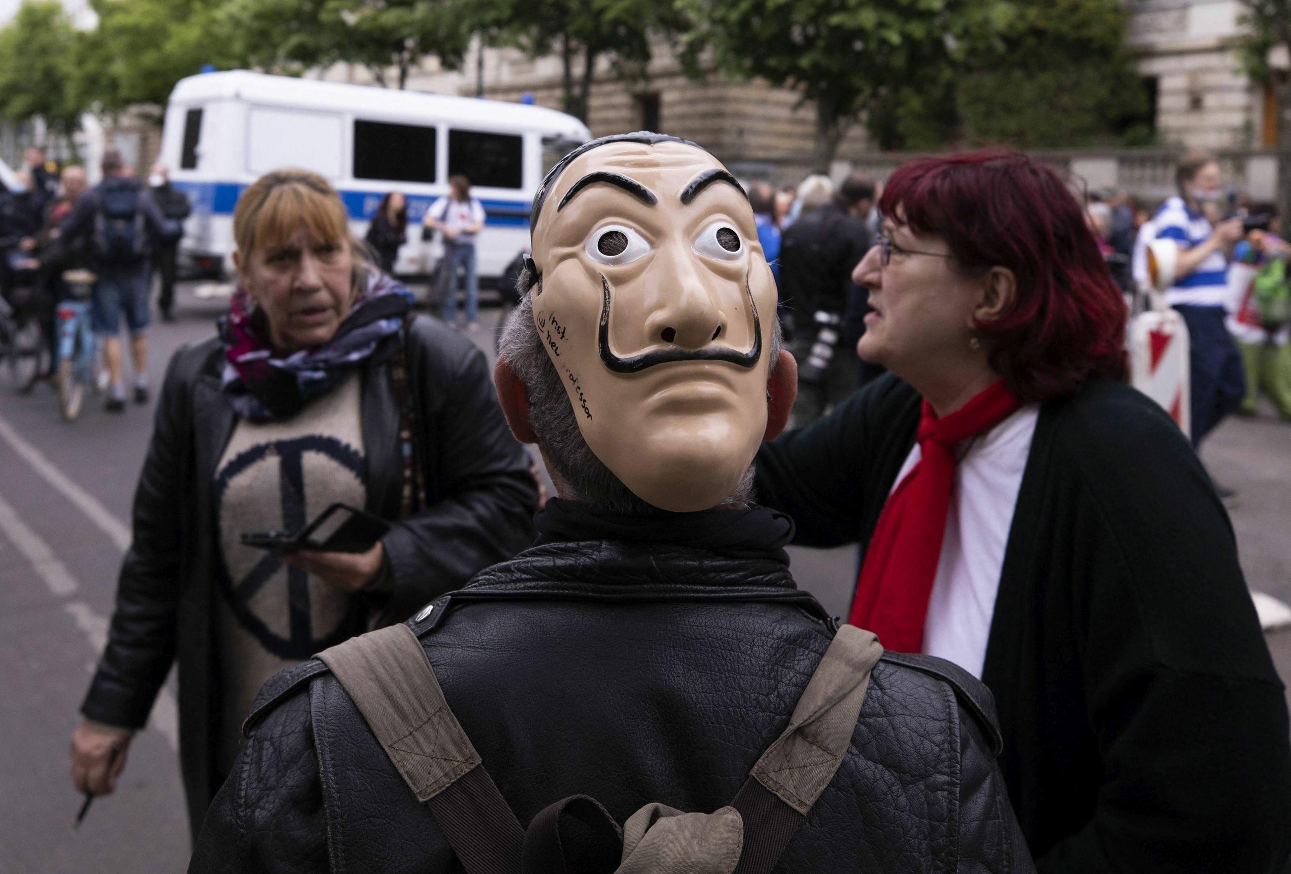 Berlin. Protest przeciwko kwarantannie
