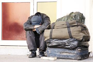 Bezdomny mężczyzna (zdj. ilustracyjne)