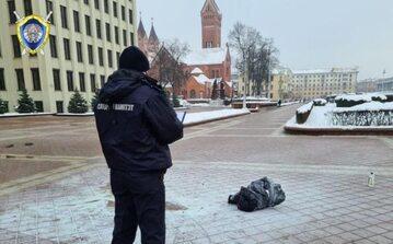 Białoruś. Służby na miejscu samospalenia w Mińsku