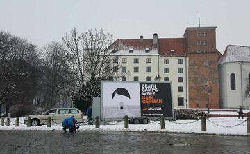 """Billboard """"German Death Camps"""""""