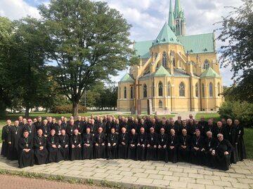 Biskupi podczas 387. Zebrania Plenarnego KEP, 5 października