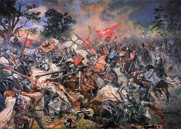 Bitwa pod Grunwaldem na obrazie Wojciecha Kossaka