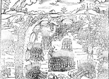 Bitwa pod Obertynem, fragment ryciny z kroniki Marcina Bielskiego