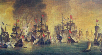 Bitwa pod Oliwą 1627 r. – obraz Stefana Płużańskiego
