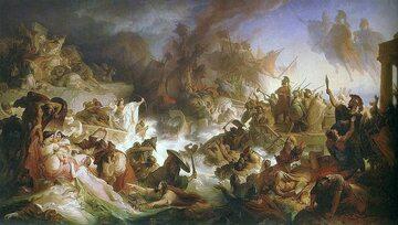 Bitwa pod Salaminą na XIX-wiecznym obrazie Wilhelma von Kaulbacha