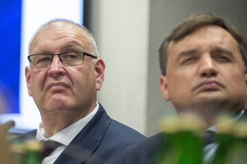 Bogdan Święczkowski w towarzystwie przełożonego Zbigniewa Ziobry