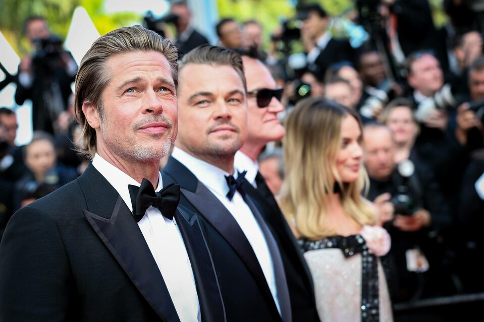 Brad Pitt, Leonardo DiCaprio, Quentin Tarantino, Margot Robbie