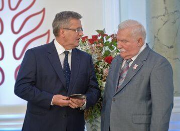 Bronisław Komorowski i Lech Wałęsa