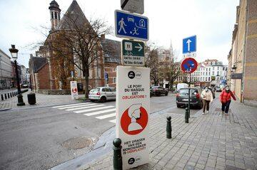 Bruksela w czasie pandemii koronawirusa
