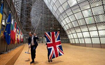 Brytyjska flaga znika z budynku Rady Unii Europejskiej w Brukseli
