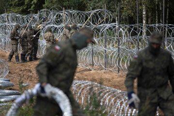 Budowa ogrodzenia na granicy polsko-białoruskiej