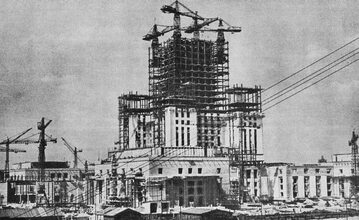 Budowa PKiN w 1954 roku