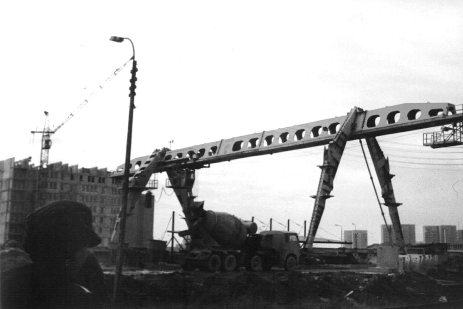 Budowa stacji metra A4 Stokłosy, listopad 1986