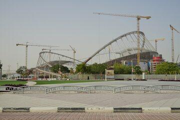 Budowa stadionu na mundial w Katarze (stan na 2016 rok)
