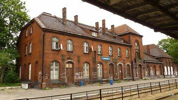 Budynek dworca kolejowego w Chełmży