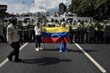Caracas. Protest przeciwko prezydentowi Maduro