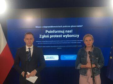 Cezary Tomczyk i Barbara Nowacka