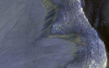Charakterystyczne ślady na Marsie