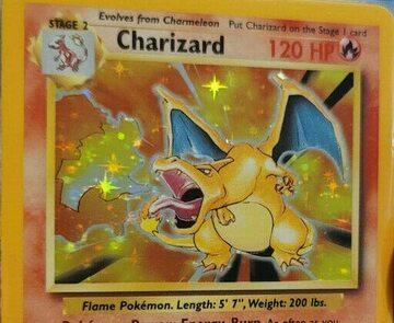 Charizard na karcie kolekcjonerskiej