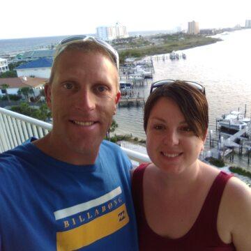 Christopher Bergan ze swoją żoną, Heather