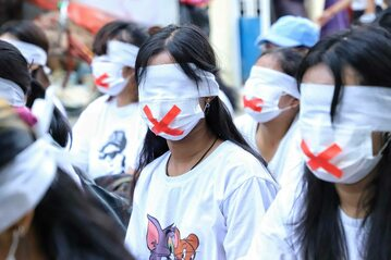 """""""Cichy protest"""" w Mjanmie, zdj. ilustracyjne"""