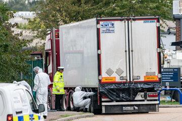 Ciężarówka, w której znaleziono ciała