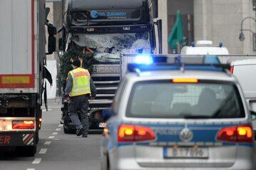 Ciężarówka wykorzystana do ataku