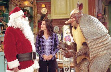 """Courteney Cox, Matthew Perry i David Schwimmer w serialu """"Przyjaciele"""""""