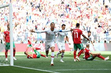 Cristiano Ronaldo po strzelonej bramce