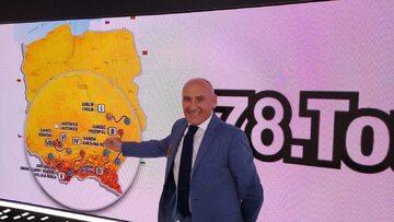 Czesław Lang podczas prezentacji trasy TdP