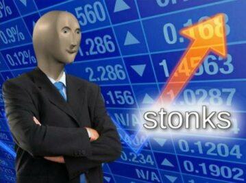 """Czysta forma mema """"stonks"""""""