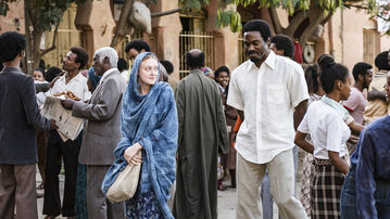 """Dakota Fanning i Yahya Abdul-Mateen II w filmie """"Sweetness in the Belly"""" (2019)"""