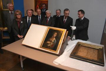 """""""Dama z gronostajem"""", obraz zakupiony od Fundacji Czartoryskich"""