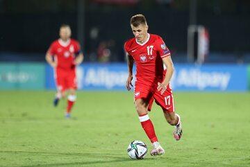 Damian Szymański w meczu z San Marino