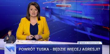 """Danuta Holecka w """"Wiadomościach"""" TVP"""